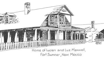 July 25 illustration.Maxwell Fort Sumner house.Freiberger
