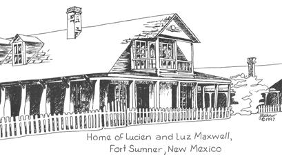 July 25 illustration.Maxwell Fort Sumner house.Freiberger