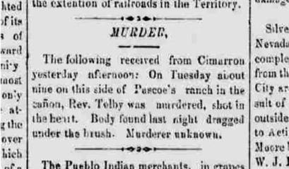 Tolby murder illustration.9 18 1875 Las Vegas Gazette