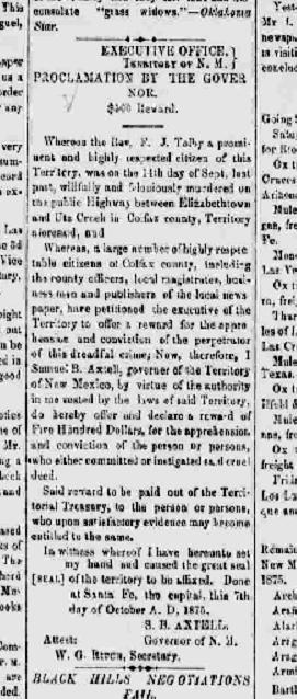 Las Vegas Gazette.10 8 1875.Tolby.clipped